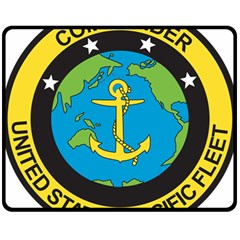 Seal Of Commander Of United States Pacific Fleet Double Sided Fleece Blanket (medium)