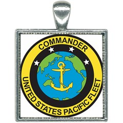 Seal Of Commander Of United States Pacific Fleet Square Necklace by abbeyz71