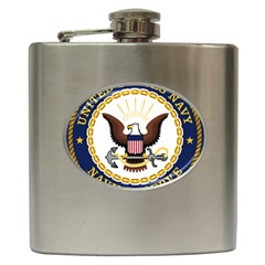 Seal Of United States Navy Reserve Hip Flask (6 Oz) by abbeyz71