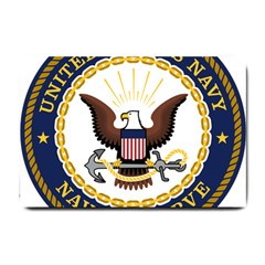 Seal Of United States Navy Reserve Small Doormat  by abbeyz71