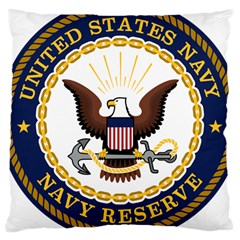 Seal Of United States Navy Reserve Large Cushion Case (one Side)