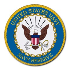 Seal Of United States Navy Reserve, 2005 2017 Round Mousepads