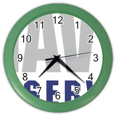 Logo Of United States Navy Reserve Color Wall Clock