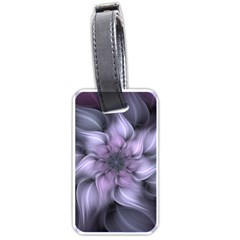 Purple Flower Windswept Luggage Tags (one Side)