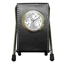 Time Goes On Pen Holder Desk Clock