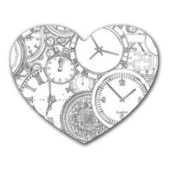 Time Goes On Heart Mousepads
