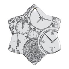 Time Goes On Ornament (snowflake)