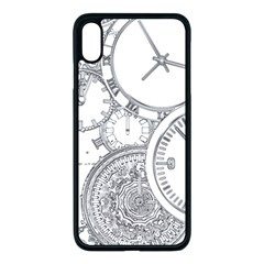 Time Goes On Apple Iphone Xs Max Seamless Case (black) by JezebelDesignsStudio