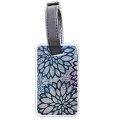 Modern Floral Pop Luggage Tags (one Side)