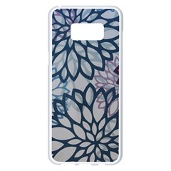 Modern Floral Pop Samsung Galaxy S8 Plus White Seamless Case
