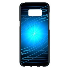 Blue Elliptical Samsung Galaxy S8 Plus Black Seamless Case