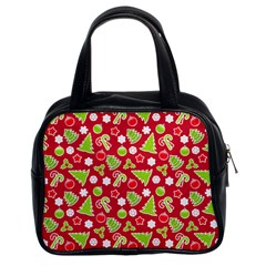 Christmas Paper Scrapbooking Pattern Classic Handbag (two Sides)