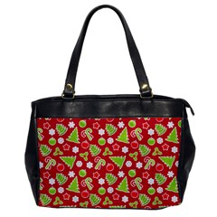 Christmas Paper Scrapbooking Pattern Oversize Office Handbag by Mariart