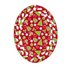Christmas Paper Scrapbooking Pattern Ornament (oval Filigree) by Mariart