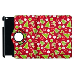 Christmas Paper Scrapbooking Pattern Apple Ipad 2 Flip 360 Case by Mariart