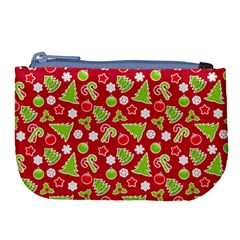 Christmas Paper Scrapbooking Pattern Large Coin Purse by Mariart