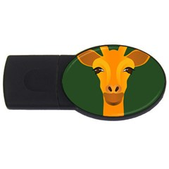 Giraffe Animals Zoo Usb Flash Drive Oval (2 Gb) by Mariart
