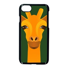 Giraffe Animals Zoo Apple Iphone 8 Seamless Case (black) by Mariart