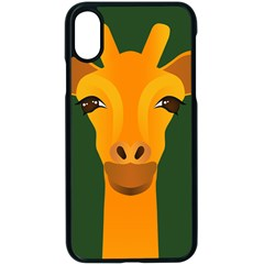 Giraffe Animals Zoo Apple Iphone Xs Seamless Case (black) by Mariart