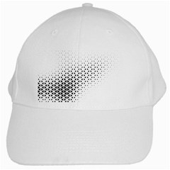 Geometric Abstraction Pattern White Cap by Mariart