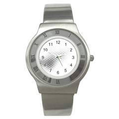 Geometric Abstraction Pattern Stainless Steel Watch by Mariart