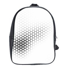 Geometric Abstraction Pattern School Bag (large)