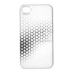 Geometric Abstraction Pattern Apple Iphone 4/4s Hardshell Case With Stand
