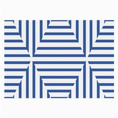 Geometric Shapes Stripes Blue Large Glasses Cloth (2 Side) by Mariart