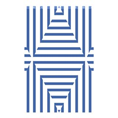 Geometric Shapes Stripes Blue Shower Curtain 48  X 72  (small)  by Mariart
