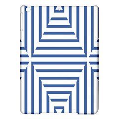 Geometric Shapes Stripes Blue Ipad Air Hardshell Cases