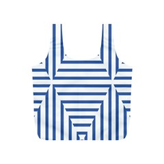 Geometric Shapes Stripes Blue Full Print Recycle Bag (s)