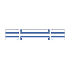 Geometric Shapes Stripes Blue Flano Scarf (mini)