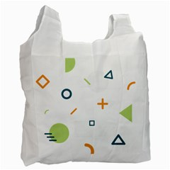 Geometry Triangle Line Recycle Bag (two Side)