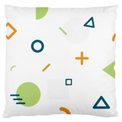 Geometry Triangle Line Large Cushion Case (one Side) by Mariart