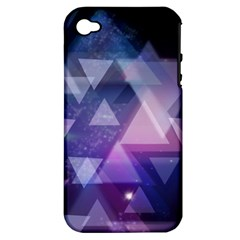 Geometric Triangle Apple Iphone 4/4s Hardshell Case (pc+silicone)