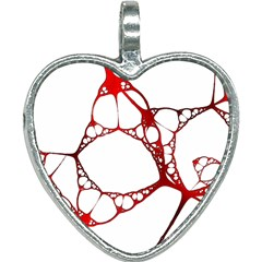 Fractals Cells Autopsy Pattern Heart Necklace by Mariart