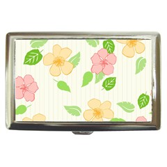 Flowers Leaf Stripe Pattern Cigarette Money Case