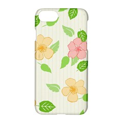 Flowers Leaf Stripe Pattern Apple Iphone 7 Hardshell Case