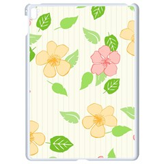 Flowers Leaf Stripe Pattern Apple Ipad Pro 9 7   White Seamless Case by Mariart