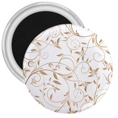 Floating Gold Elegant Pattern 3  Magnets
