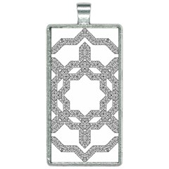 Encapsulated Rectangle Necklace by Jojostore