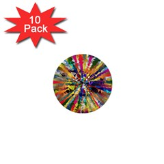 Colorful Prismatic Chromatic 1  Mini Buttons (10 Pack)