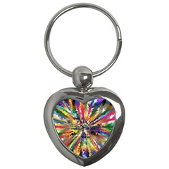 Colorful Prismatic Chromatic Key Chains (heart)