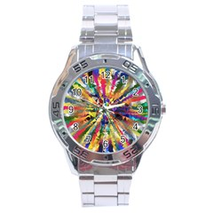 Colorful Prismatic Chromatic Stainless Steel Analogue Watch