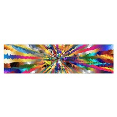 Colorful Prismatic Chromatic Satin Scarf (oblong)