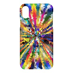 Colorful Prismatic Chromatic Apple Iphone Xs Hardshell Case by Jojostore