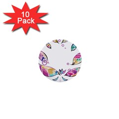 Euclidean Vector Leaf 1  Mini Buttons (10 Pack)