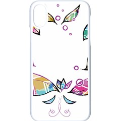 Euclidean Vector Leaf Apple Iphone Xs Seamless Case (white)