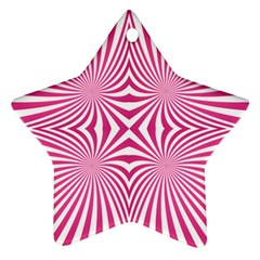 Hypnotic Psychedelic Abstract Ray Ornament (star)