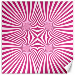 Hypnotic Psychedelic Abstract Ray Canvas 16  X 16  by Alisyart
